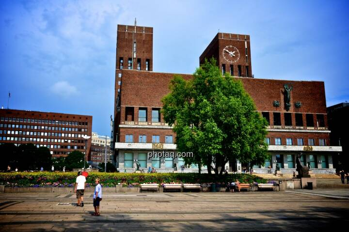 Oslo, Rathaus, Norwegen