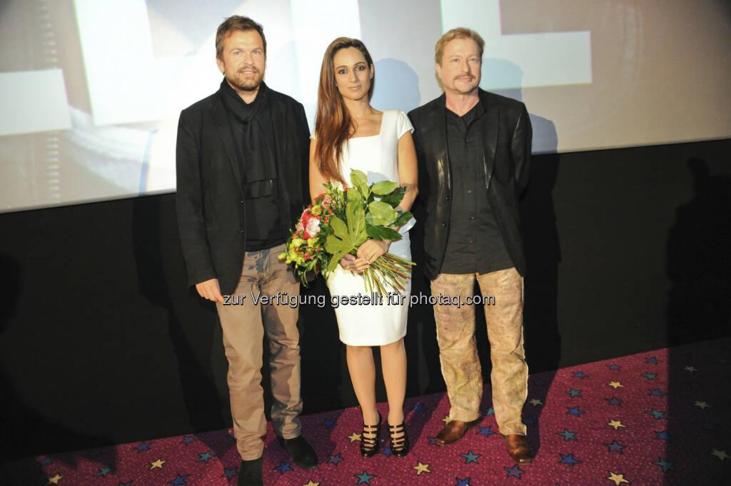 Markus Breitenecker, Asli Bayram, Robert Hofferer -  Body Complete. Der erste PULS 4 Kinofilm feierte seinen Start (c) Joanna pianka für Society24.at (16.01.2013)