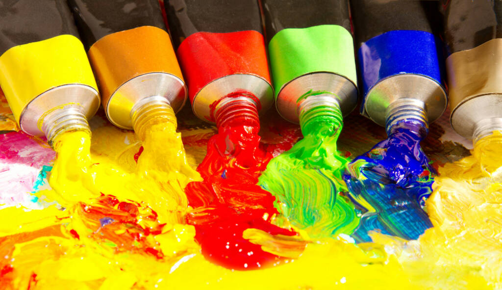 Farben, bunt, mischen, vermischen, mixen, Tube, malen, http://www.shutterstock.com/de/pic-74270473/stock-photo-multicolored-tubes-of-paint-several-colors-on-palette.html, © www.shutterstock.com (21.06.2018)