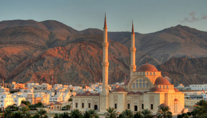 Maskat, Oman, http://www.shutterstock.com/de/pic-140772187/stock-photo-grand-mosque-of-muscat-oman.html