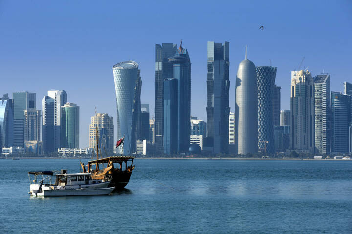 Doha, Katar, http://www.shutterstock.com/de/pic-172611632/stock-photo-modern-city-in-doha.html