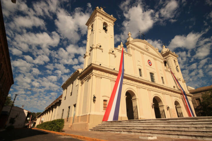 Asuncion, Paraguay, http://www.shutterstock.com/de/pic-106037669/stock-photo-beautiful-catholic-national-cathedral-from-different-angle-in-capital-asuncion-paraguay-south.html