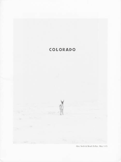 Alec Soth and Brad Zellar - LBM Dispatch #5: Colorado, LBM 2013, Cover - http://josefchladek.com/book/alec_soth_and_brad_zellar_-_lbm_dispatch_5_colorado, © (c) josefchladek.com (12.08.2014)