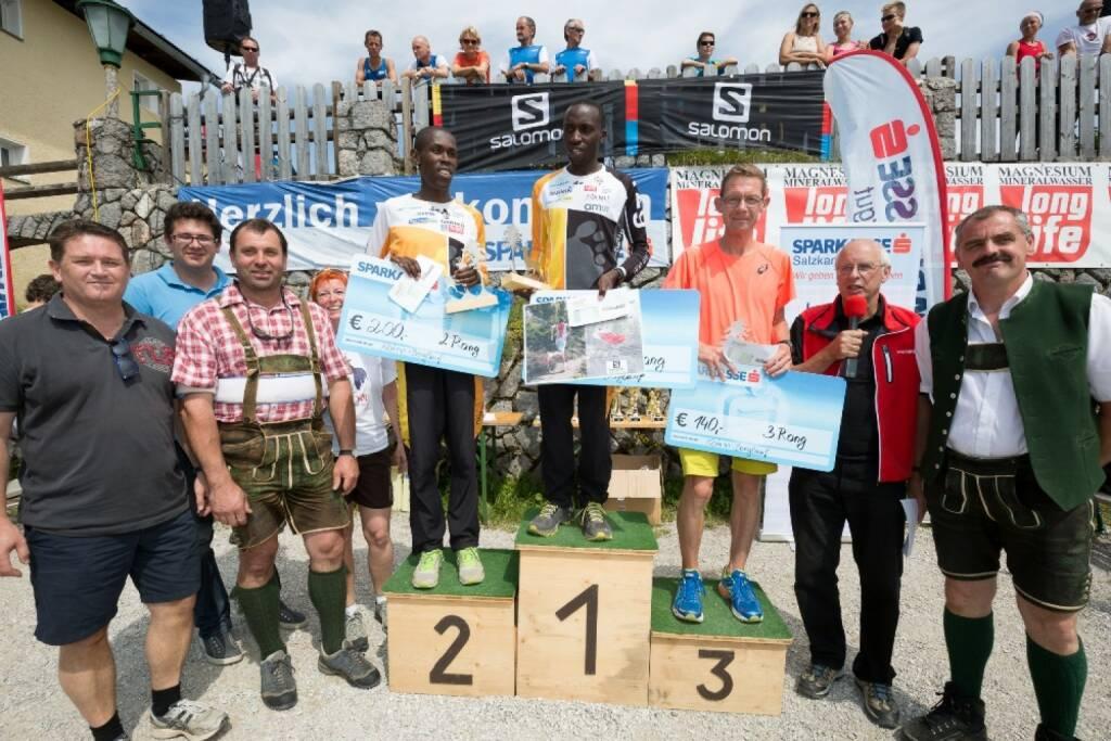 Katrinberglauf 2014 Johannes Rohn (16) - Die strahlenden Sieger am Podest (12.08.2014)