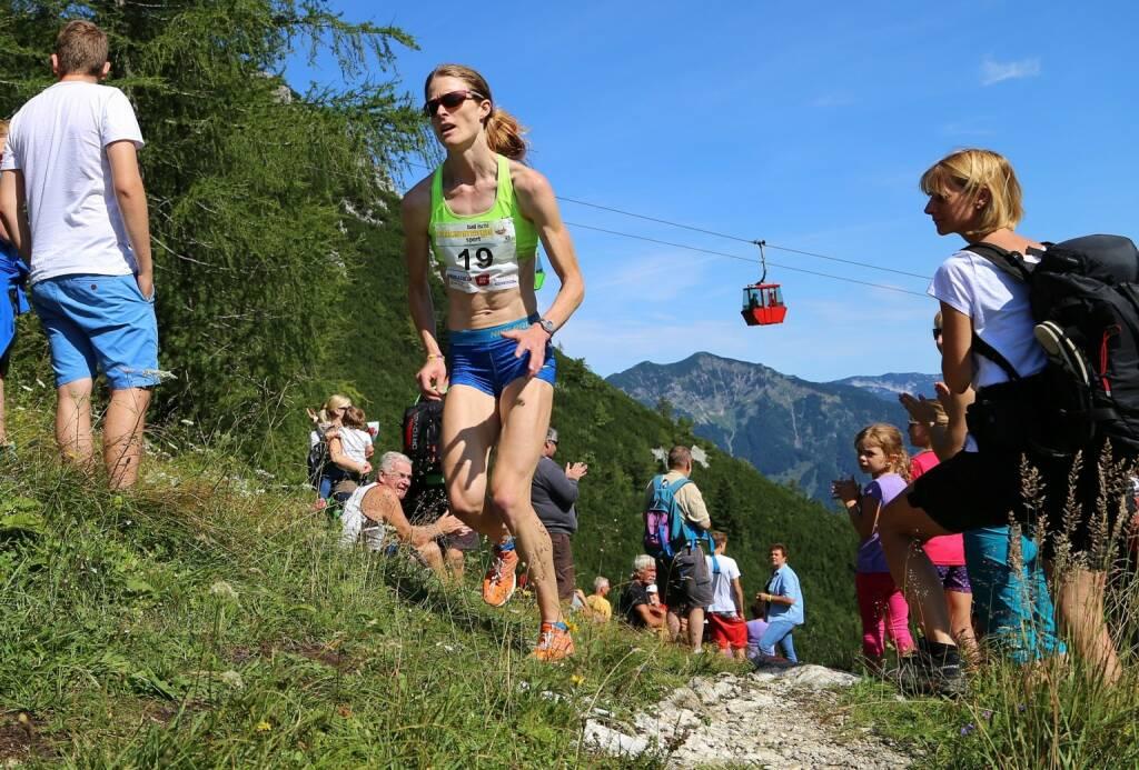 Katrinberglauf 2014 Reinhard Hörmandinger (26) - Andrea Mayr auf dem Weg zum Sieg (12.08.2014)