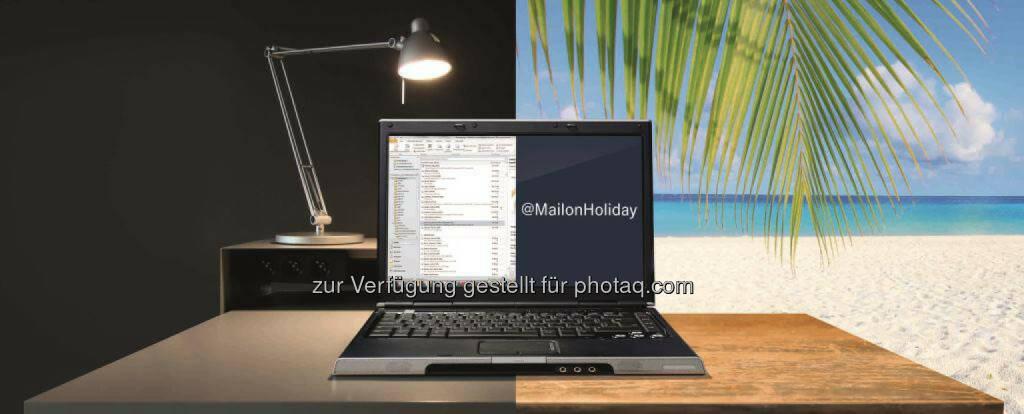 """Entlastung im Urlaub, Erholung garantiert: Mit dem Abwesenheitsassistent """"Mail on Holiday"""" können Mitarbeiter der Daimler AG eingehende E-Mails während ihrer Urlaubszeit löschen lassen., © Aussender (13.08.2014)"""