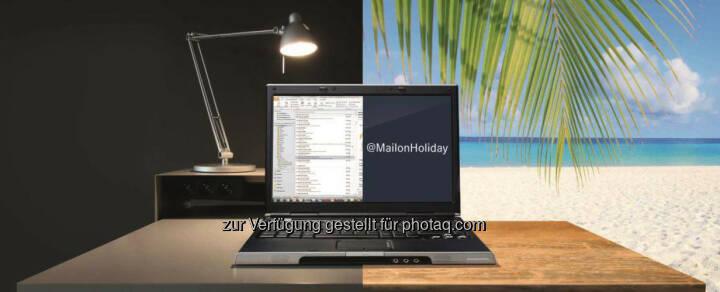 """Entlastung im Urlaub, Erholung garantiert: Mit dem Abwesenheitsassistent """"Mail on Holiday"""" können Mitarbeiter der Daimler AG eingehende E-Mails während ihrer Urlaubszeit löschen lassen."""