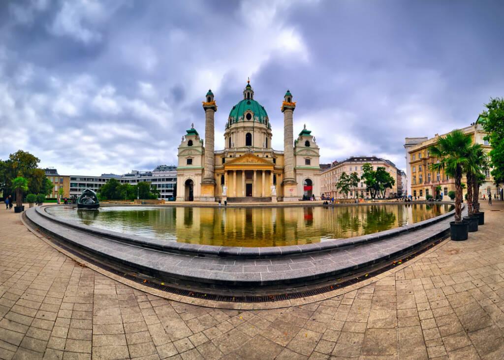 Karlskirche, Wien, Österreich, Kirche, http://www.shutterstock.com/de/pic-162086846/stock-photo-catholic-church-karlskirche-in-vienna.html , © www.shutterstock.com (13.08.2014)