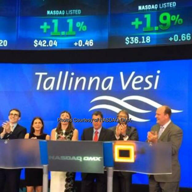 Watch Tallinna Vesi AS ring the #NASDAQ Closing Bell!  Source: http://facebook.com/NASDAQ (14.08.2014)