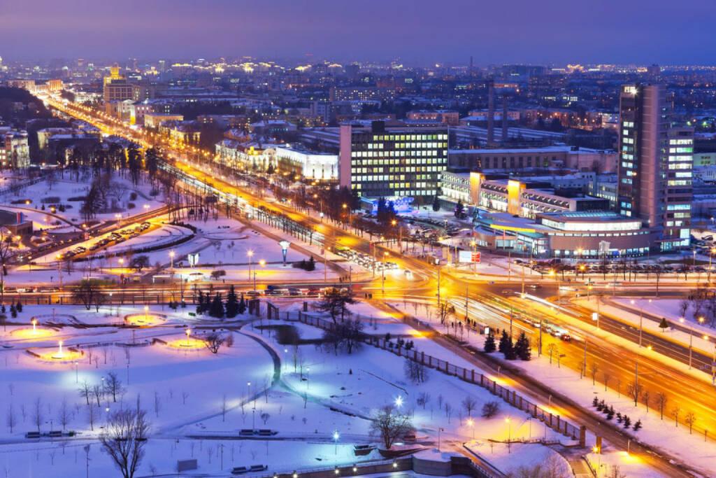 Minsk, Weissrussland, Weißrussland, http://www.shutterstock.com/de/pic-69199885/stock-photo-night-winter-panorama-of-minsk-belarus.html , © shutterstock.com (15.08.2014)
