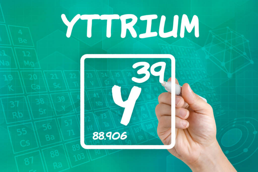 Yttrium, seltene Erden, Metall, http://www.shutterstock.com/de/pic-152211524/stock-photo-symbol-for-the-chemical-element-yttrium.html, © www.shutterstock.com (15.08.2014)