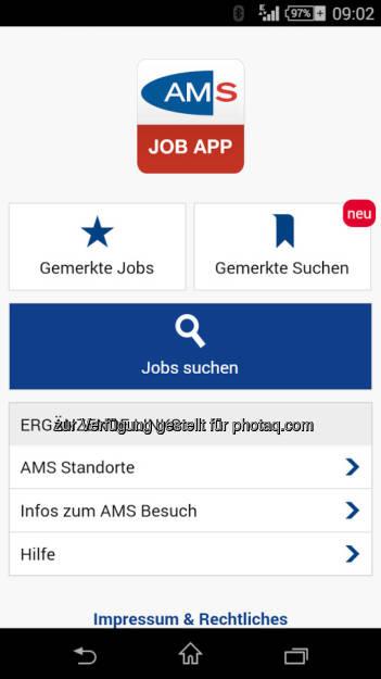 AMS Arbeitsmarktservice Österreich: AMS goes APP: Mobile Jobsuche auf dem Smartphone oder Tablet mit der AMS Job App, © Aussender (15.08.2014)