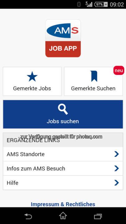 AMS Arbeitsmarktservice Österreich: AMS goes APP: Mobile Jobsuche auf dem Smartphone oder Tablet mit der AMS Job App