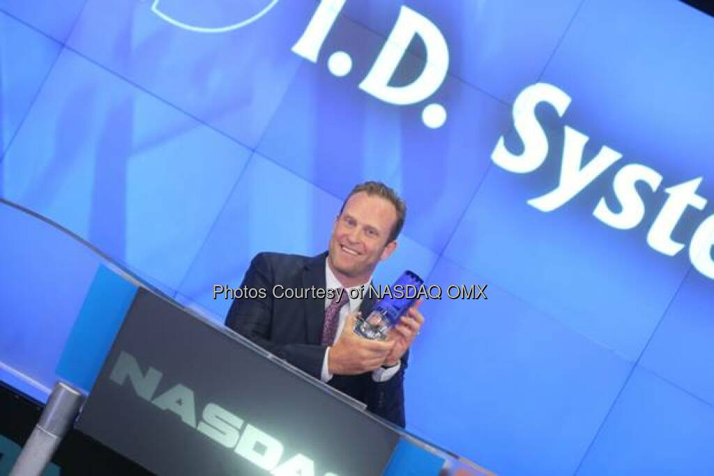 I.D. Systems, Inc. Rings The NASDAQ Stock Market Opening Bell  Source: http://facebook.com/NASDAQ (16.08.2014)