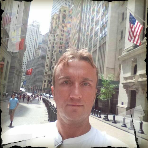 Herbert Gmoser Wall Street, © mit Genehmigung der jeweiligen Selfiesierenden (17.08.2014)