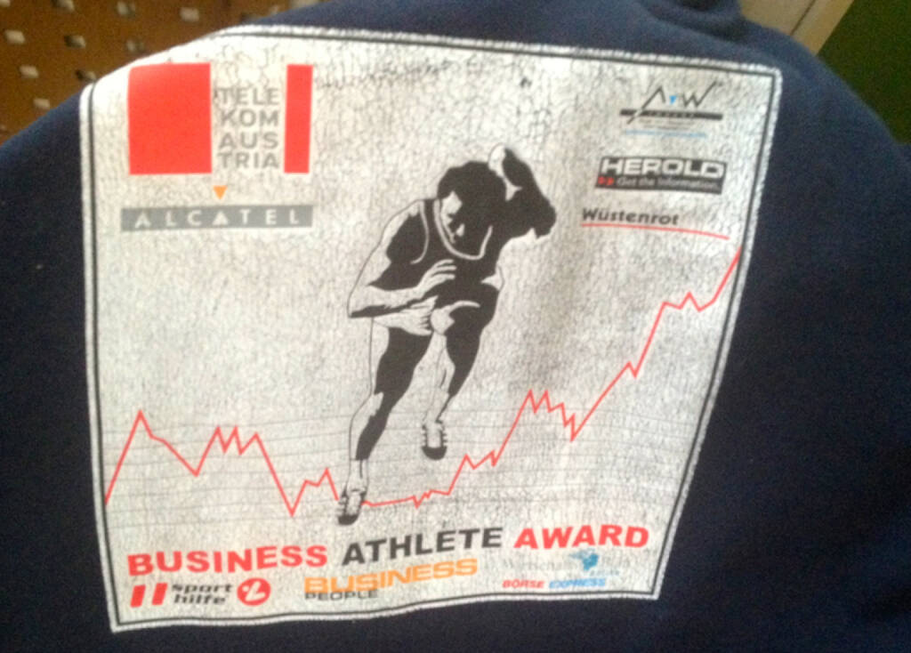 Business Athlete Award Vintage, heuer wieder neu als Runplugged Business Athlete Award mit der Sporthilfe, siehe http://www.christian-drastil.com/2014/04/25/freude_der_business_athlete_award_gehort_mir (17.08.2014)