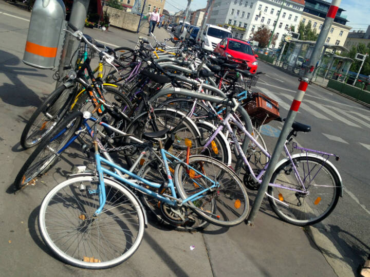 Rad, Räder, Parkplatz