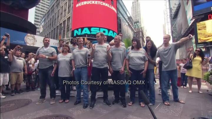 Team #NASDAQ has completed the #IceBucketChallenge to raise awareness about ALS (The ALS Association). We now nominate Fox Business' Maria Bartiromo, GoPro's CEO Nick Woodman and our very own co-president Adena Friedman to #StrikeOutALS. You all have 24 hours to complete the challenge! Thanks to BATS Global Markets for the nomination.  Source: http://facebook.com/NASDAQ