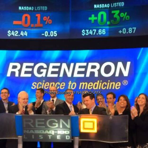 [VIDEO] Watch Regeneron Pharmaceuticals ring the #NASDAQ Opening Bell! #dreamBIG $REGN #N100  Source: http://facebook.com/NASDAQ (20.08.2014)