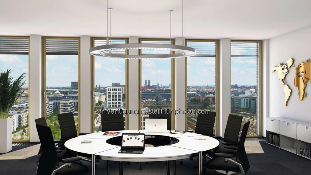 Arnulfpark München: Bürogebäude Kontorhaus, Besprechungsraum (Visualisierung) (Bild: CA Immo) (21.08.2014)