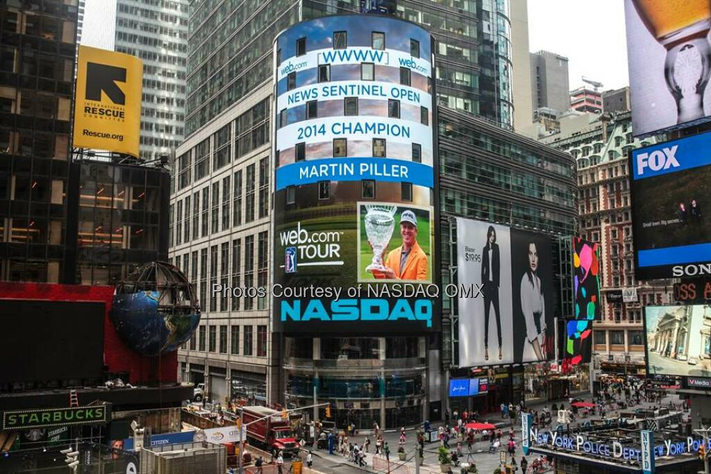 Congratulations to Martin Piller, winner of WebDotComTour's 2014 News Sentinel Open! #WebTour  Source: http://facebook.com/NASDAQ (22.08.2014)
