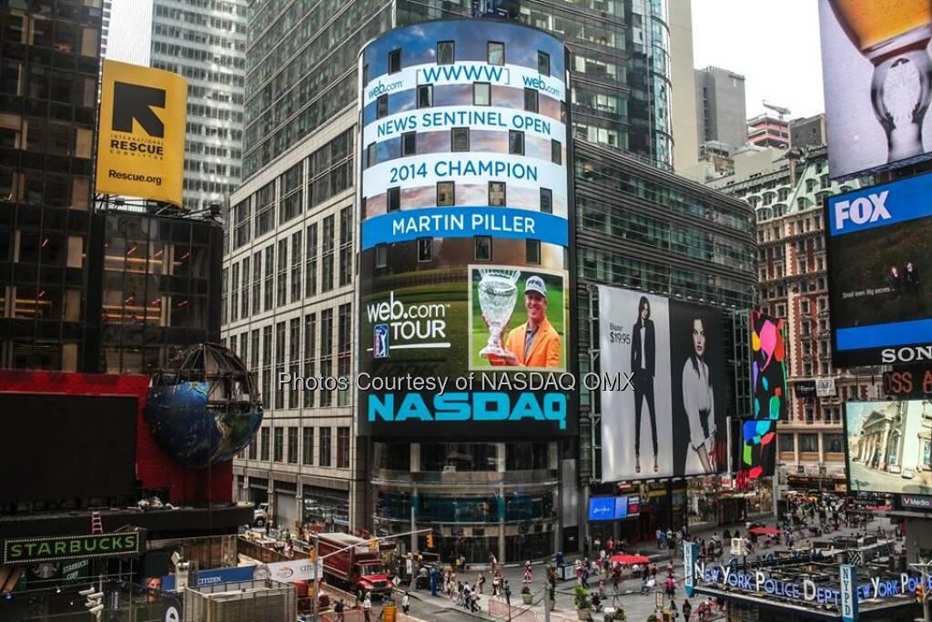 Congratulations to Martin Piller, winner of WebDotComTour's 2014 News Sentinel Open! #WebTour  Source: http://facebook.com/NASDAQ (22.08.2014)