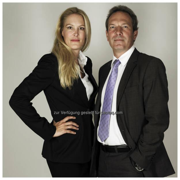 """Herausgeberin Eva Dichand und Geschäftsführer Wolfgang Jansky, AHVV Verlags GmbH: ÖAK bestätigt Auflagenoffensive der Tageszeitung """"Heute"""", © Aussender (22.08.2014)"""