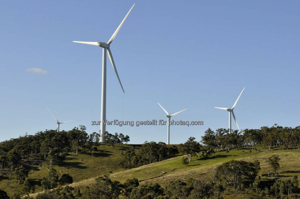 Origin Energy, Windpark, Australien, Cullerin Range (Bild: Origin Energy http://www.originenergy.com.au/1710/Image-library), © www.shutterstock.com (21.07.2018)