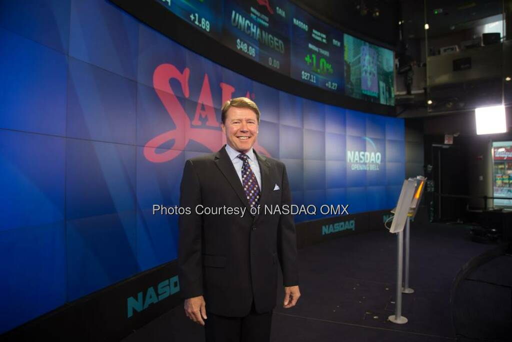 SAIA, Inc. Rings The NASDAQ Opening Bell  Source: http://facebook.com/NASDAQ (25.08.2014)