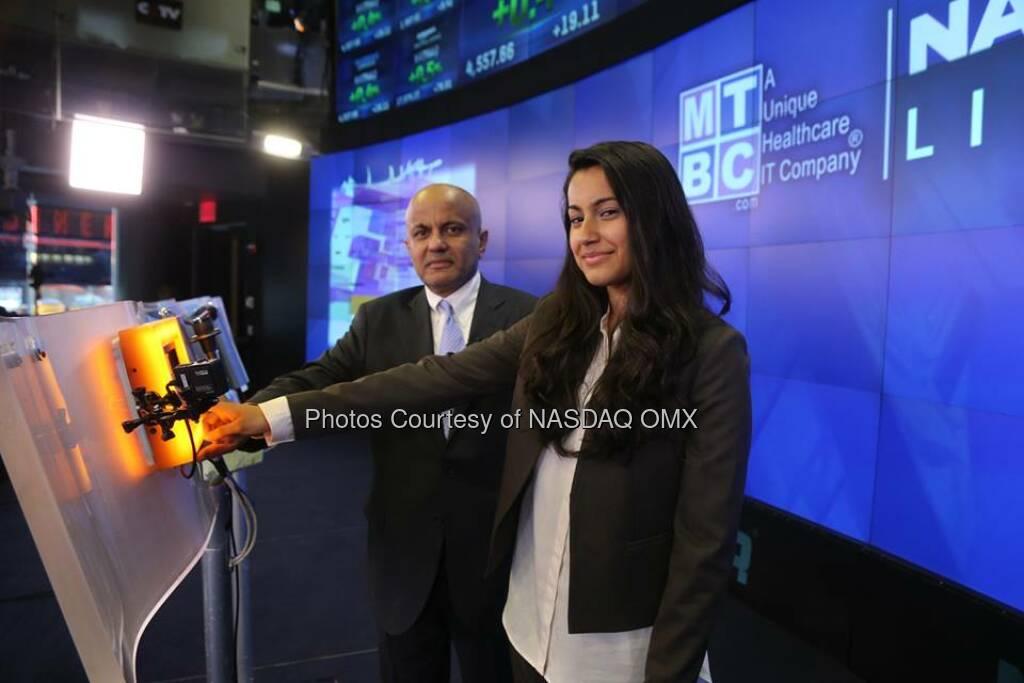 MTBC rings the #NASDAQ Closing Bell! #dreamBIG $MTBC  Source: http://facebook.com/NASDAQ (26.08.2014)