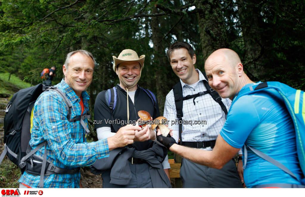 Toni Schutti, Philipp Bodzenta, Christoph Stadler und Roland Koenigshofer. (Photo: GEPA pictures/ Markus Oberlaender) (26.08.2014)