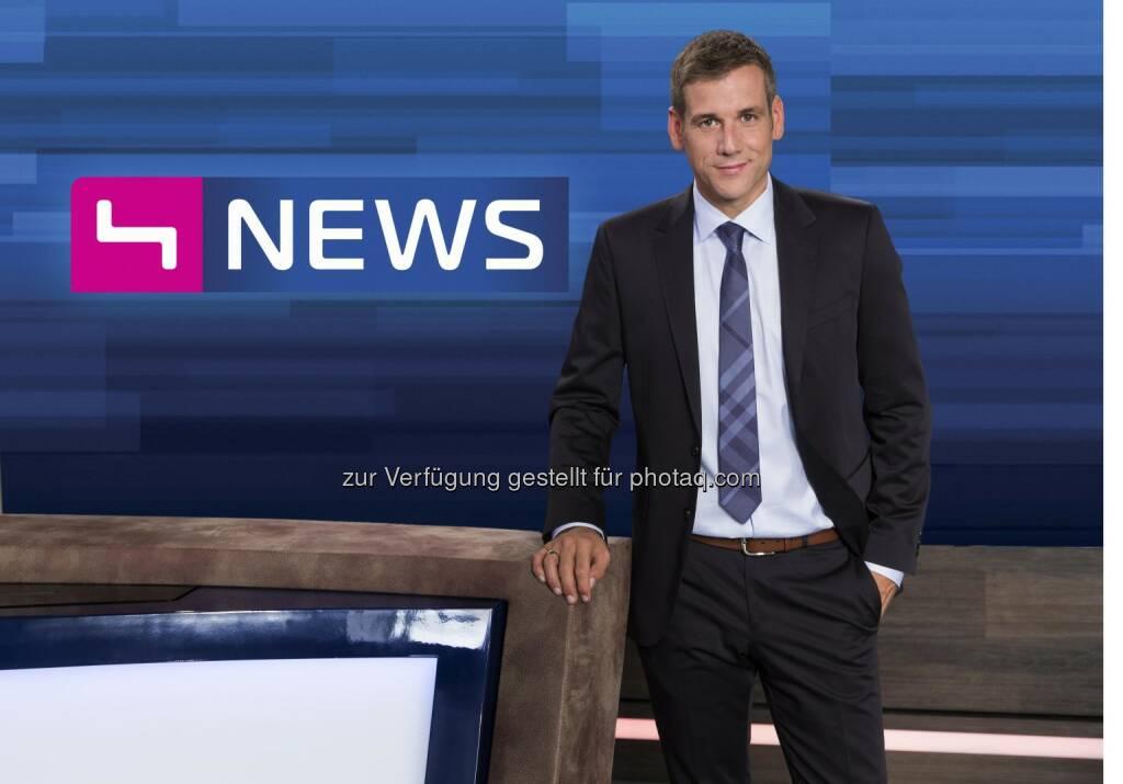 Werner Sejka, Puls 4 News Moderator und Neuzugang (Bild: Markus Morianz) (26.08.2014)