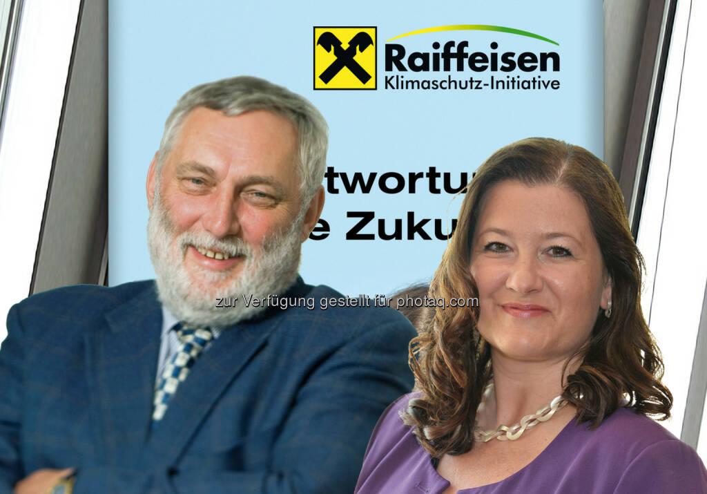 Franz Fischler (RKI-Vorsitzender) und Andrea Weber (RKI-Geschäftsführerin): Raiffeisen Klimaschutz-Initiative unterstützt Umweltpreis Daphne, © Aussender (27.08.2014)