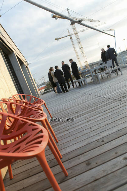25 Jahre S Immo, Terrasse, Kräne, © Martina Draper (15.12.2012)