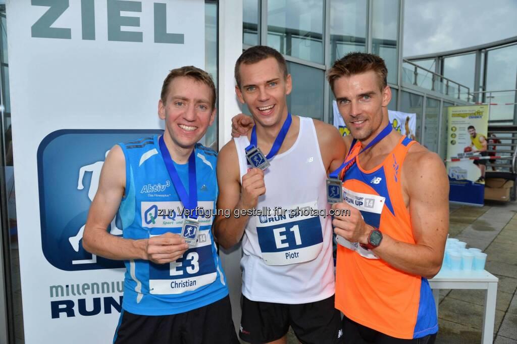Christian Riedl (D) (2. Platz), Piotr Lobodzinski (PL), Sieger, Tomas Celko (SK) 3. Platz, © leisure.at/Matthias Buchwald (28.08.2014)