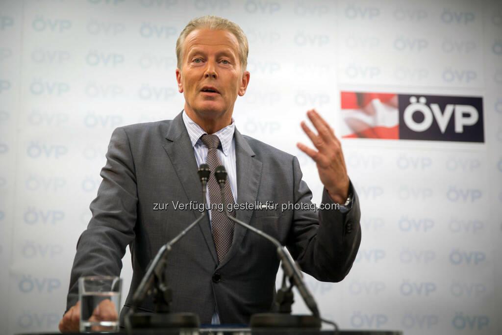 Reinhold Mitterlehner (ÖVP-Bundesparteiobmann) (Bild: ÖVP, Fotograf: Jakob Glaser) (28.08.2014)