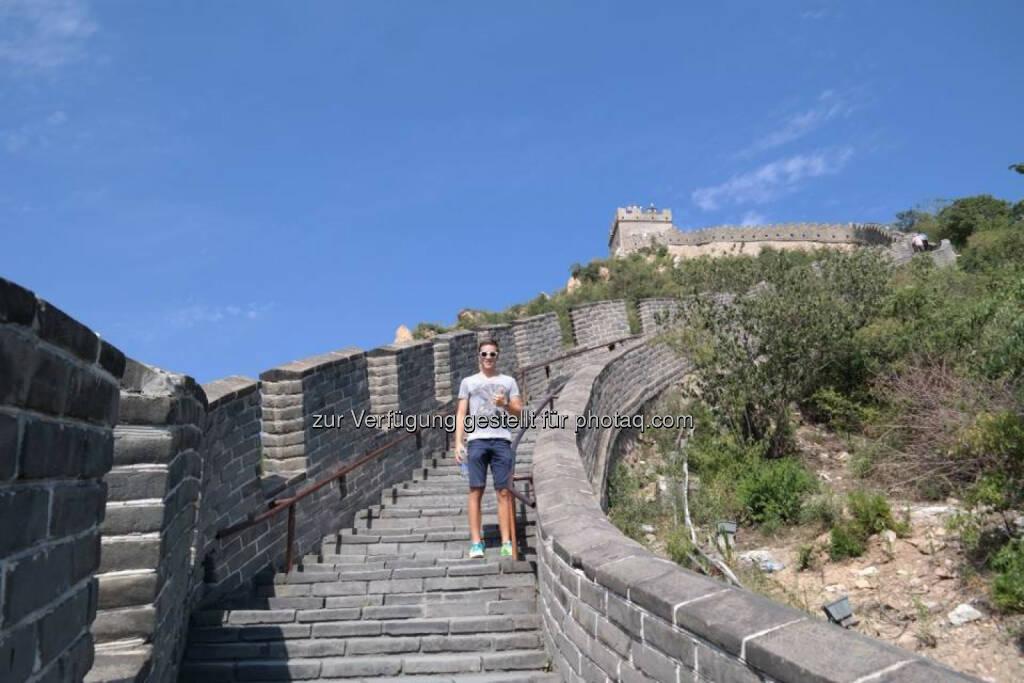 Gerald Pollak auf der Chinesischen Mauer, © Gerald Pollak (30.08.2014)