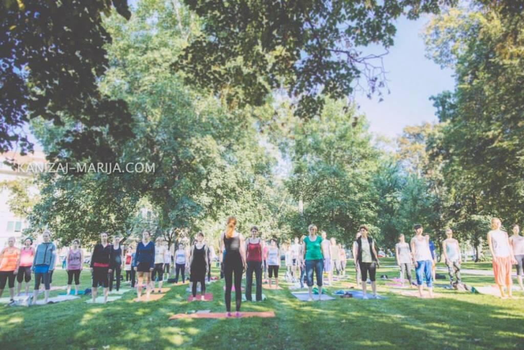 Monika Kletzmayr, Yoga, Park, © Marija Kanizaj (30.08.2014)