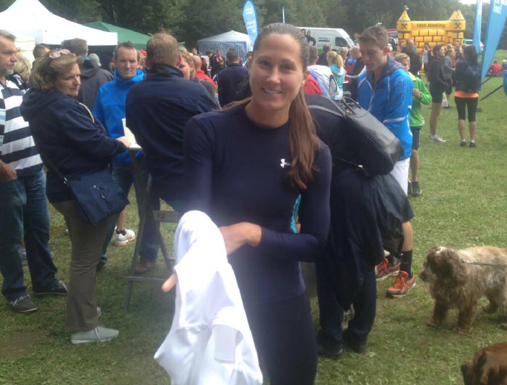 Monika Kalbacher noch ohne Runplugged Shirt (30.08.2014)