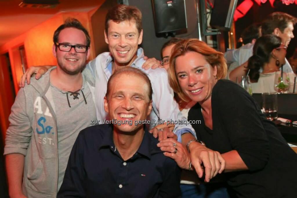 Puff-Eröffnung 2014: Manuel Riegler, Ronny Koderbauer, Thomas Polak, Eva Koderbauer und Kathi Strasser, © Katharina Schiffl (31.08.2014)