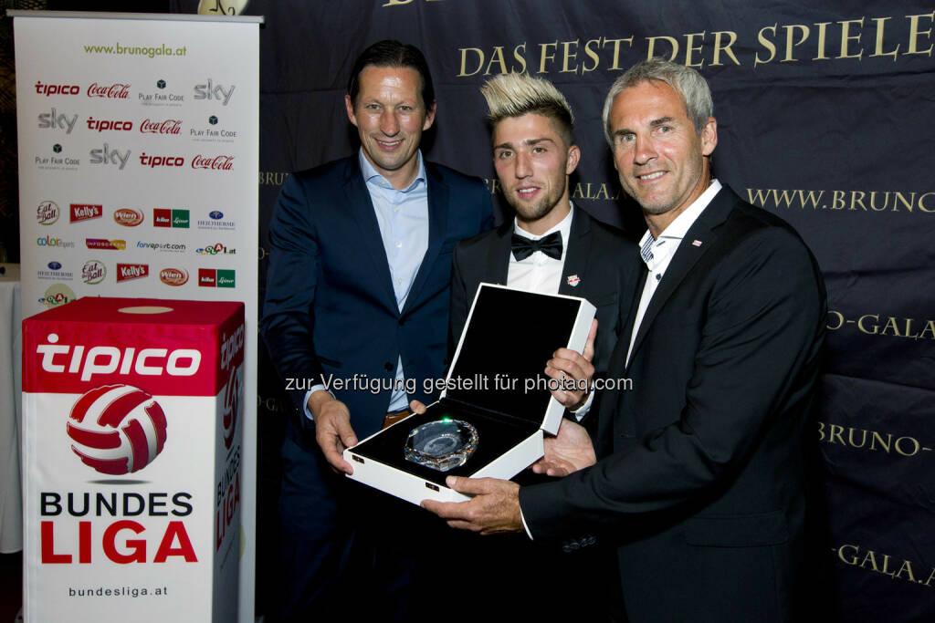 Roger Schmidt, Kevin Kampl, Michael Konsel (Bild: Bildagentur Zolles/ Martin Steiger) (31.08.2014)