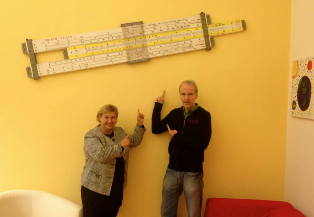Martina Malyar, Bezirksvorsteherin Alsergrund, Christian Drastil teilen die grosse Zuneigung zur Mathematik (02.09.2014)