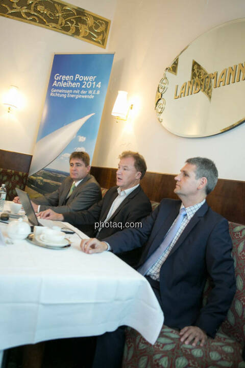Frank Dumeier (Vorstand W.E.B Windenergie AG), Andreas Dangl (Vorstandsvorsitzender W.E.B Windenergie AG), Michael Trcka (Vorstand W.E.B Windenergie AG)