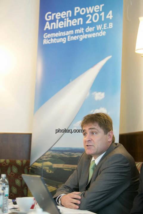 Frank Dumeier (Vorstand W.E.B Windenergie AG)