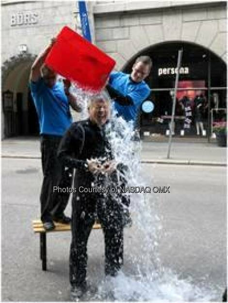 Lauri Rosendahl, President of NASDAQ OMX Helsinki, accepted the ALS Ice Bucket Challenge Challenge this morning!  Source: http://facebook.com/NASDAQ (03.09.2014)