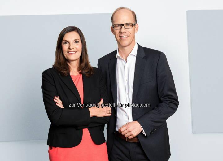 Edith Stier-Thompson und Frank Stadthoewer leiten ab sofort gemeinsam die Geschicke der dpa-Tochter news aktuell