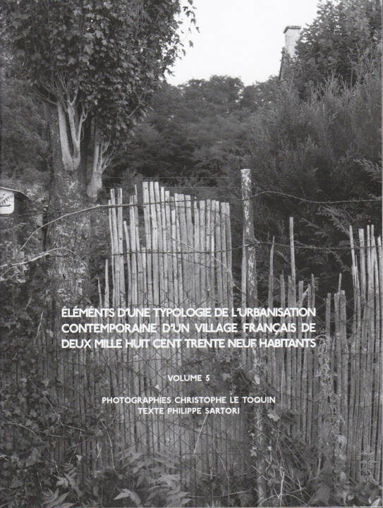 Christophe Le Toquin - Éléments d'une typologie Vol #5, Self published, 2014, Cover - http://bit.ly/1qyCRBD