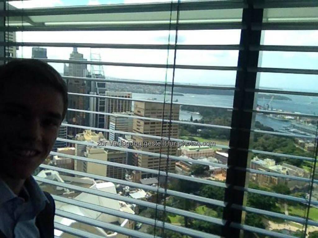 Auch in Sydney bei BCG kann sich der Ausblick aus dem Büro sehen lassen!, © Gerald Pollak (04.09.2014)