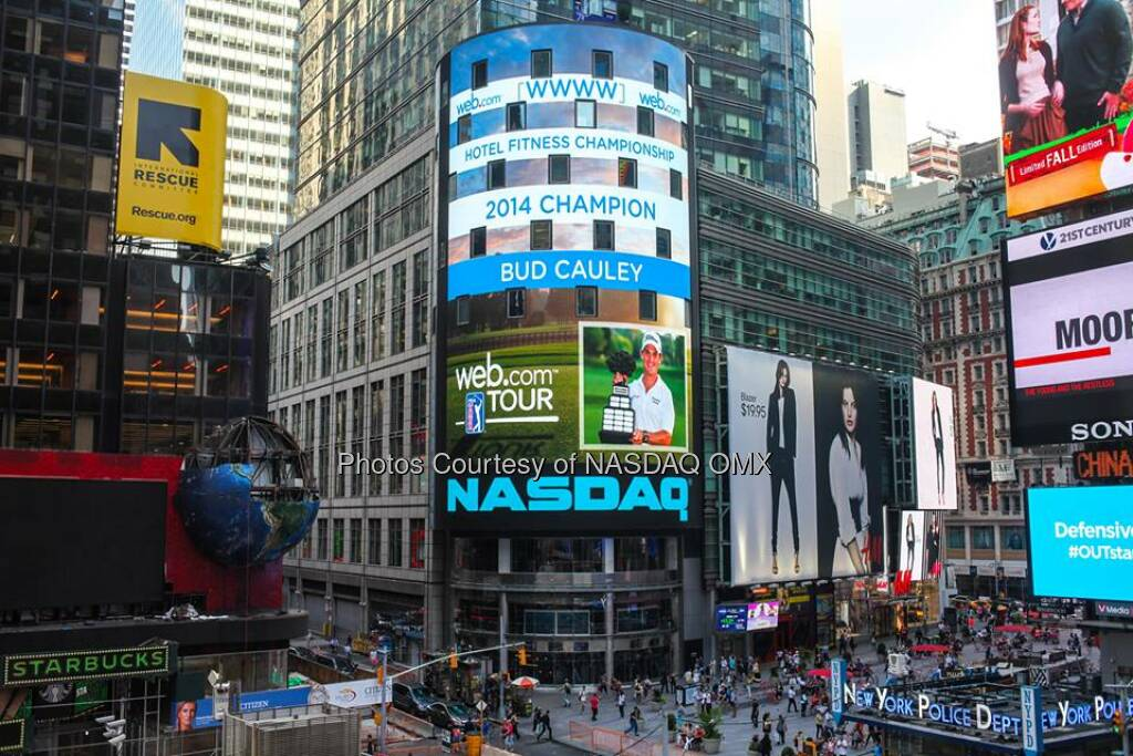Congratulations to Bud Cauley, winner of @WebDotComTour's 2014 Hotel Fitness Championship #WebTour  Source: http://facebook.com/NASDAQ (04.09.2014)