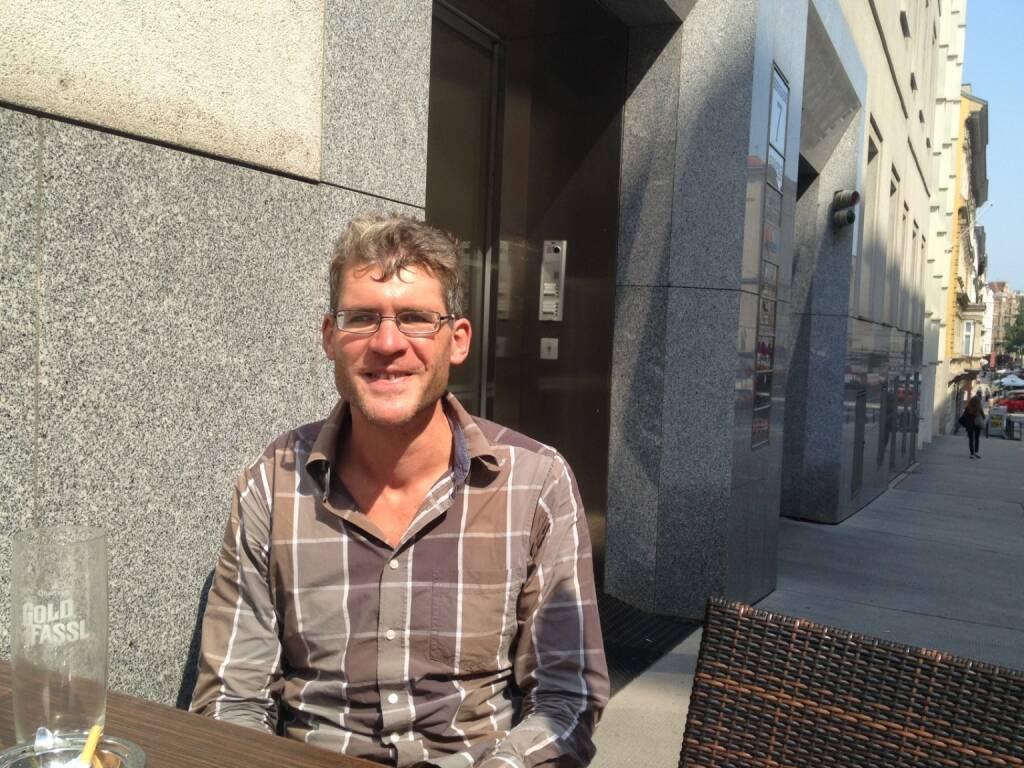 Mit Michael Gredenberg, Gründer inode, bei der Motiwirtin (04.09.2014)